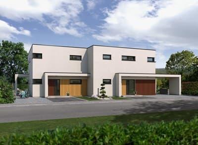 Doppelhaus - mit zwei individuell gestalteten Wohnparteien