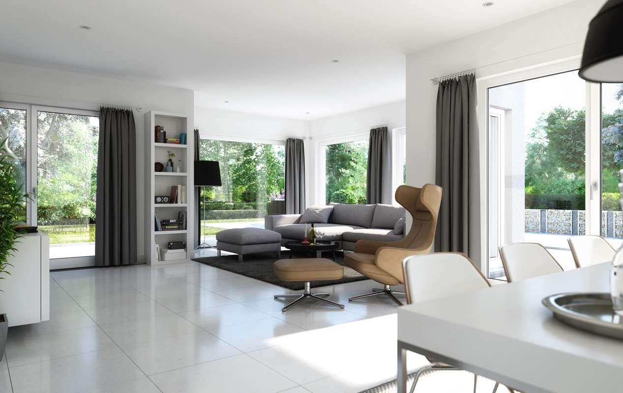 Gemüliches Sofa im Wohnbereich