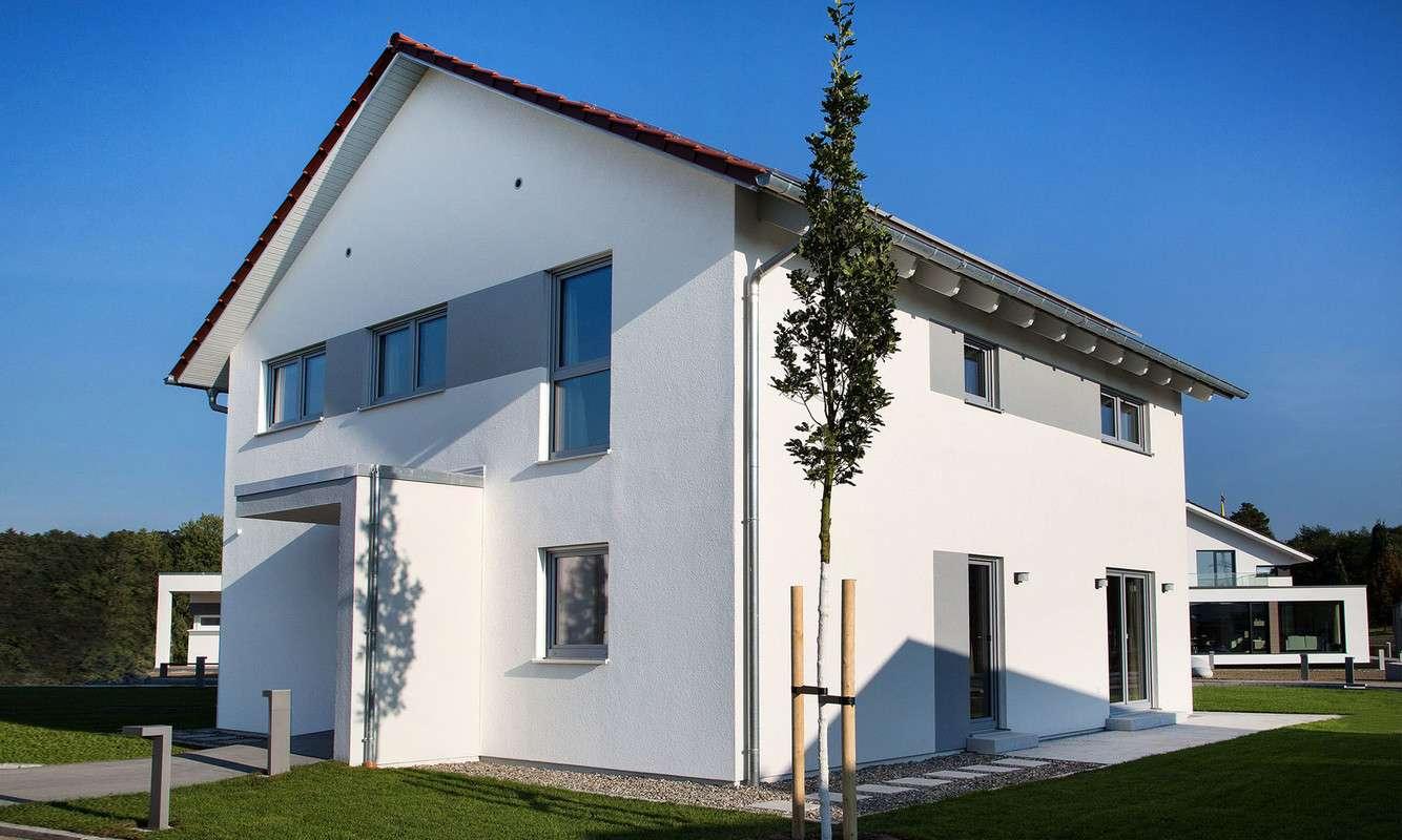Schwabenhaus Musterhaus Eingangsansicht