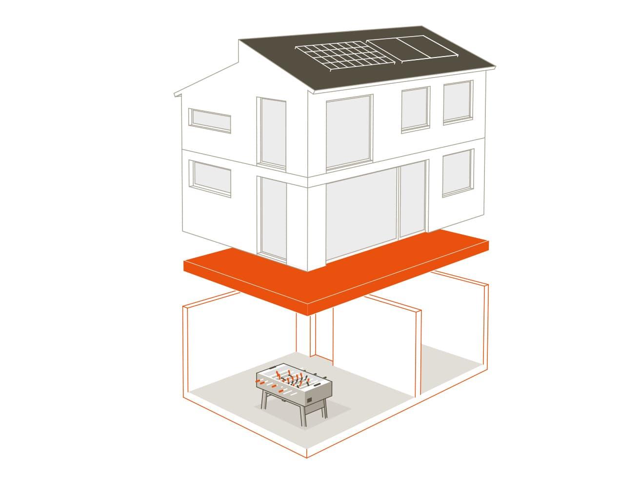 Ihr Traumhaus braucht eine gute Basis. Deshalb wird bei uns eine hochwertige Fundamentplatte eingesetzt, bei der alle notwendigen Installationen von uns schon berücksichtigt werden