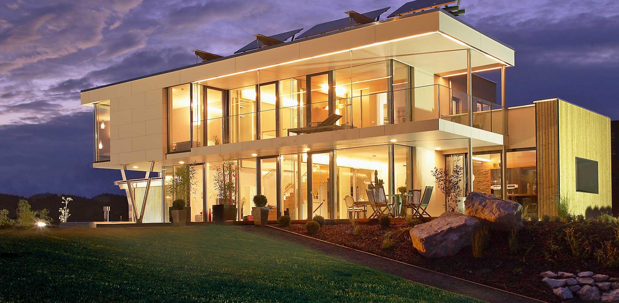 Ein fertighaus mit flachdach f r maximalen wohnraum for Fertighaus flachdach
