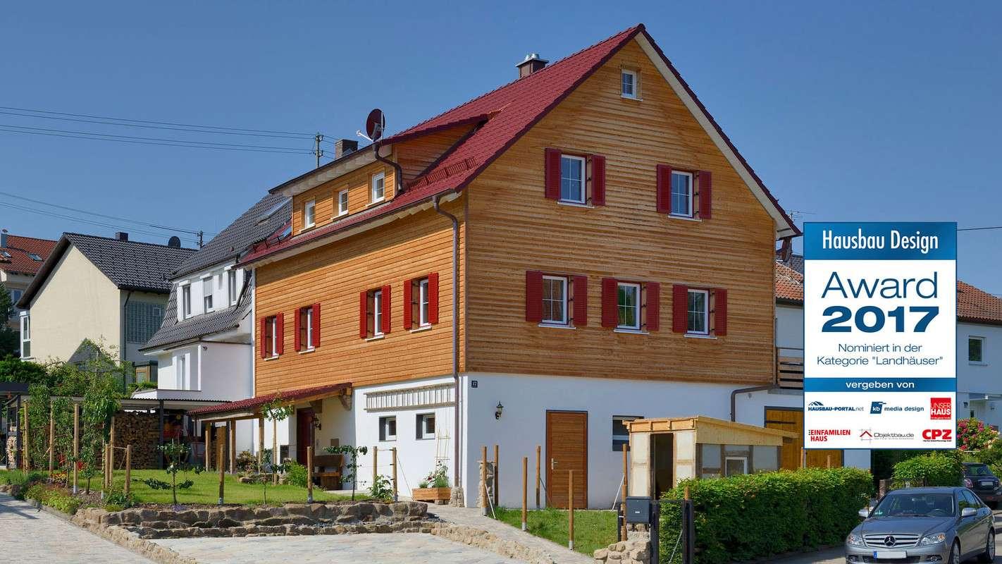 Nominiert für den Hausbau Design Award in der Kategorie Landhäuser - Haus Alber