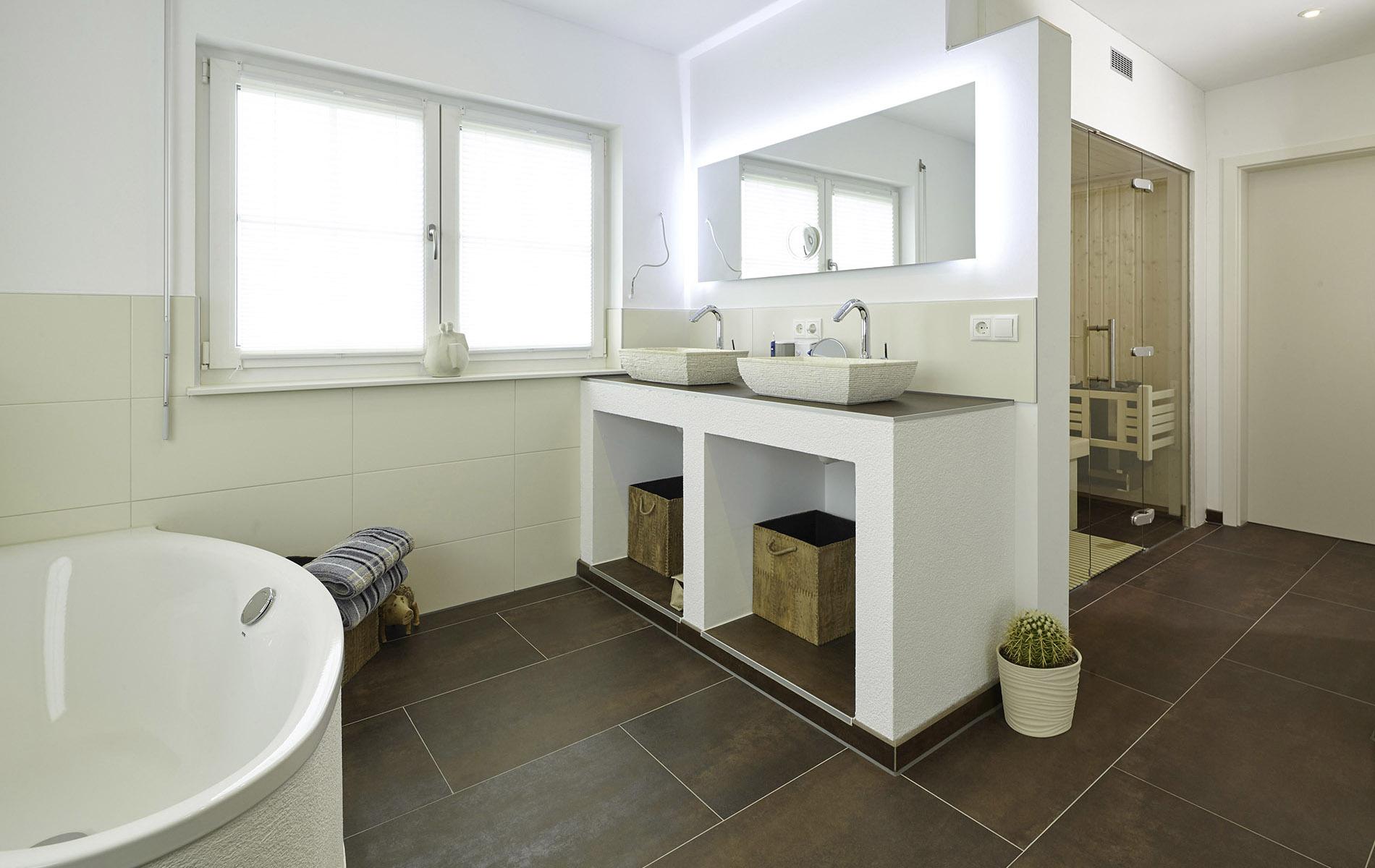 Platz für eine Sauna im Bad