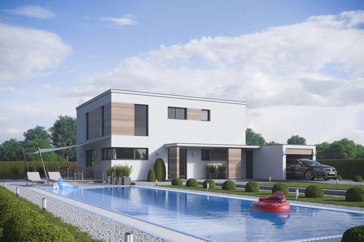 Moderne Architektur Mit Holz Optik