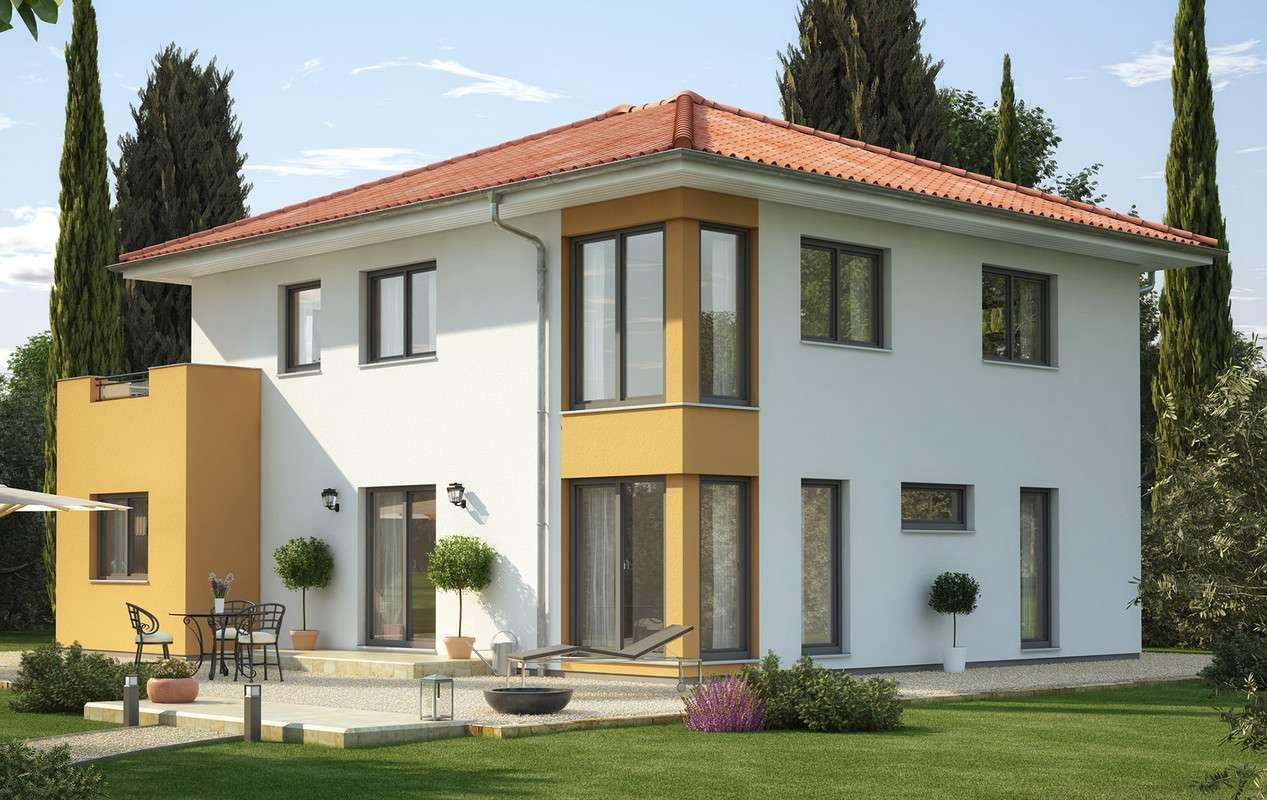 <p><strong>Innovatives Traumhaus mit Übereck-Erker mit Balkon und Design-Eckfenstern</strong></p>