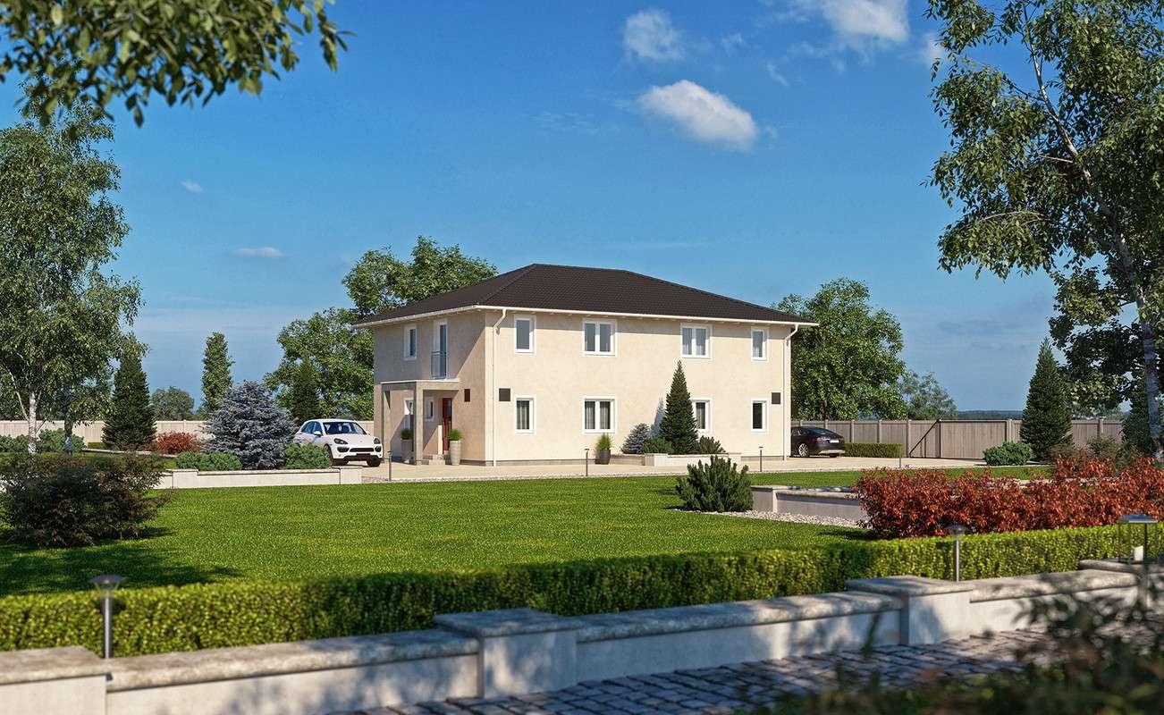 <p><strong>Doppelhaus mit großer Gestaltungsfreiheit</strong></p>