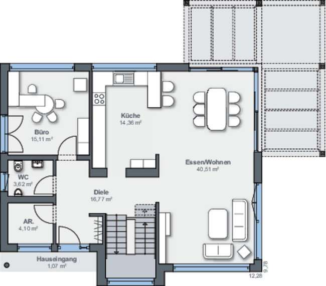 weberhaus musterhaus fellbach fertighaus von weberhaus. Black Bedroom Furniture Sets. Home Design Ideas