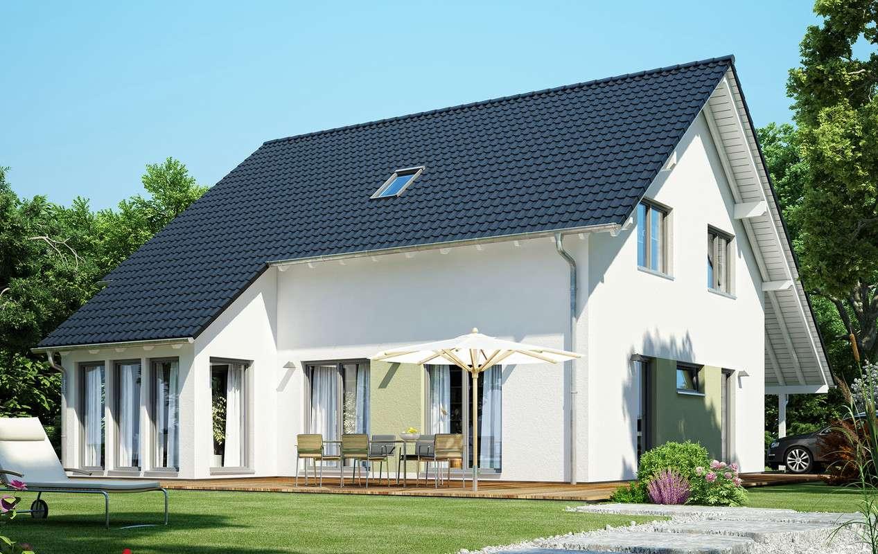 <p><strong>Schickes Traumhaus mit Wintergarten-Erker und Carport</strong></p>